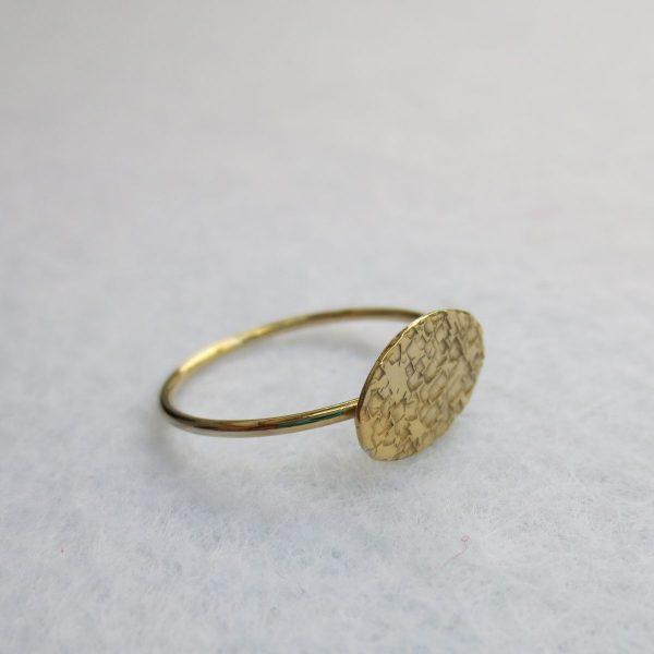 Plättchenring Silber vergoldet