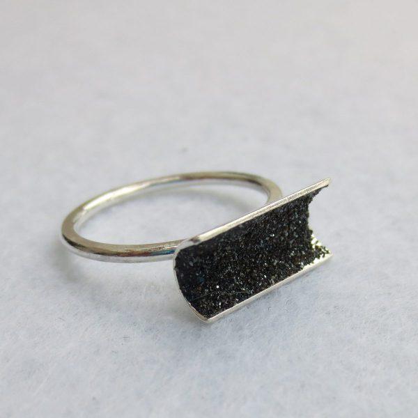 Hämatitkristall Ring