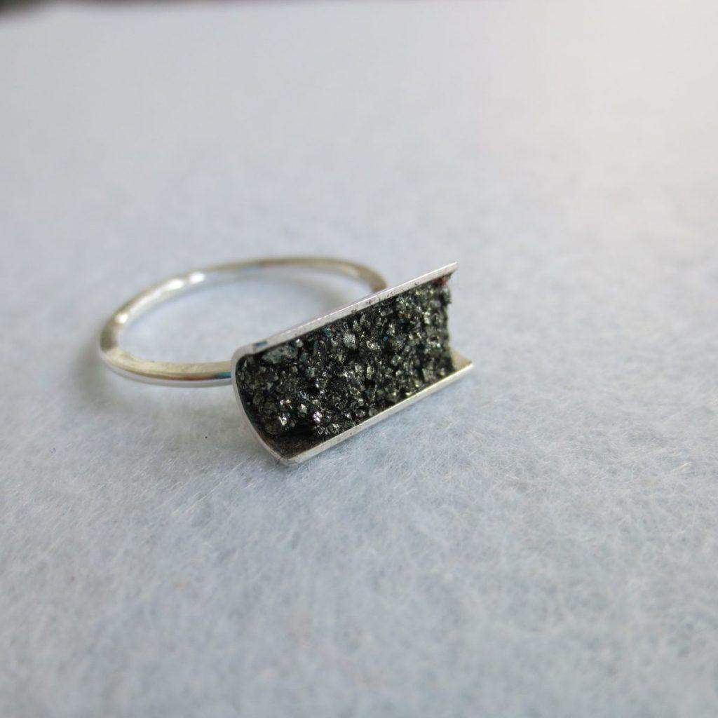 Variante 4 Pyritkristall-Ring